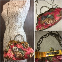 Vintage Beaded Clutch Purse Handbag Crossbody Chain   RR - $34.93