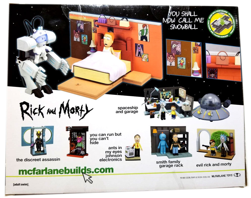 Rick and Morty YOU SHALL NOW CALL ME SNOWBALL McFarlane Toys NEW Building Set