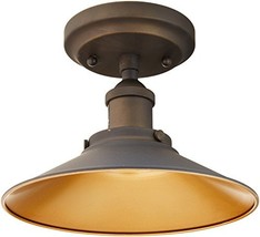 Westinghouse 6336000 Louis One-Light Indoor Semi-Flush Ceiling Fixture, Oil Rubb - $44.73