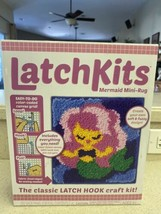 LatchKits Mini-Rug Sewing Kit The Classic Latch Hook Craft Kit -Mermaid ... - $16.84