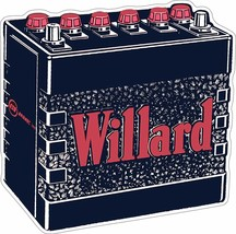 Willard Battery Plasma Cut Metal Sign, Vintage Inspired Advertisement - $39.95