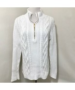 Ralph Lauren White Chunky Cable Knit Pullover Sweater  Sz L - $34.99