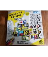 Paper Punk  Graffiti Blocks Craft Kit Color & Build - $14.69