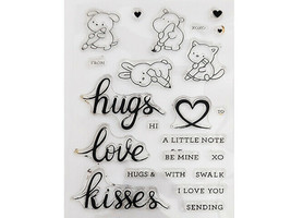 Happy Valentine's Cute Animals Clear Stamp Set with Coordinating Dies #5994