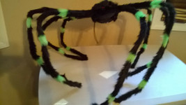"""Halloween Extra Large 50""""+ Black & Green Furry Spider Poseable & Bendabl... - $13.99"""