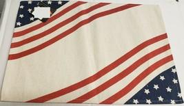 "Set Of 3 Sack Woven Fabric Kitchen Placemats, 13""x19"", Patriotic,Usa Corners, Hc - $14.84"