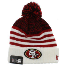 New Era San Francisco 49ers Snowfall Stripe Cuffed Knit Hat With Pom - $19.79
