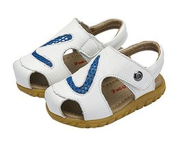 Hollow Out Boy's Summer Leather Casual Beach Sandals WHITE, Feet Length 14.7CM