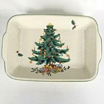 Mikasa Festive Season Christmas Tree Rectangular Baking Dish Lasagna Baker VTG - $87.07