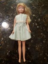 Vintage 1963 Skipper Doll Mattel Blond Barbie Straight Leg w/ Dress - $39.95