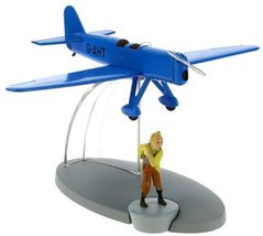 Tintin & The Blue Racing plane from the Black Island