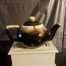 Pfaltzgraff Brown Drip Teapot w/Lid - Vintage - $15.00