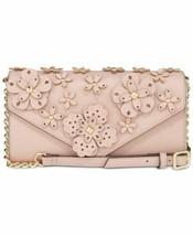 Nine West 3d Floral Mini Wallet On A Str Modern (Pink/Gold) - $43.89