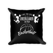 Basketball pillow - Square Pillow Case w/ stuffing - $23.00