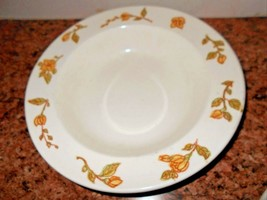 Anchor & Hocking Devonshire Ironstone Yellow Floral Serving Bowl Round Set of 2 - $12.70