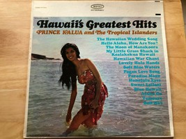 HAWAII'S GREATEST HITS PRINCE KALUA TROPICAL ISLANDERS LP VINYL ALBUM RE... - $9.87