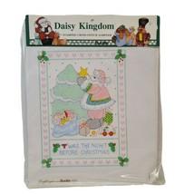Vtg Bucilla Daisy Kingdom Stamped Cross Stitch Sampler Sp Ed Christmas 63451 NOS - $13.54