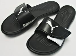 8fd5ddf54ec PUMA Womens  39  Adjustable Strap Surfcat Slide Sandals - Size 7 - Black