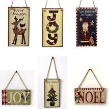 Merry Christmas Wooden Door Decoration Hanging Ornament - $7.20