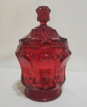 Vintage Fenton Amberina Barred Oval Candy Dish with Lid, circa 1980s - $27.00