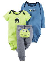 Carters Infant Boys 3pc Little Character Set Wild About Mommy Size NB NWT - $13.99