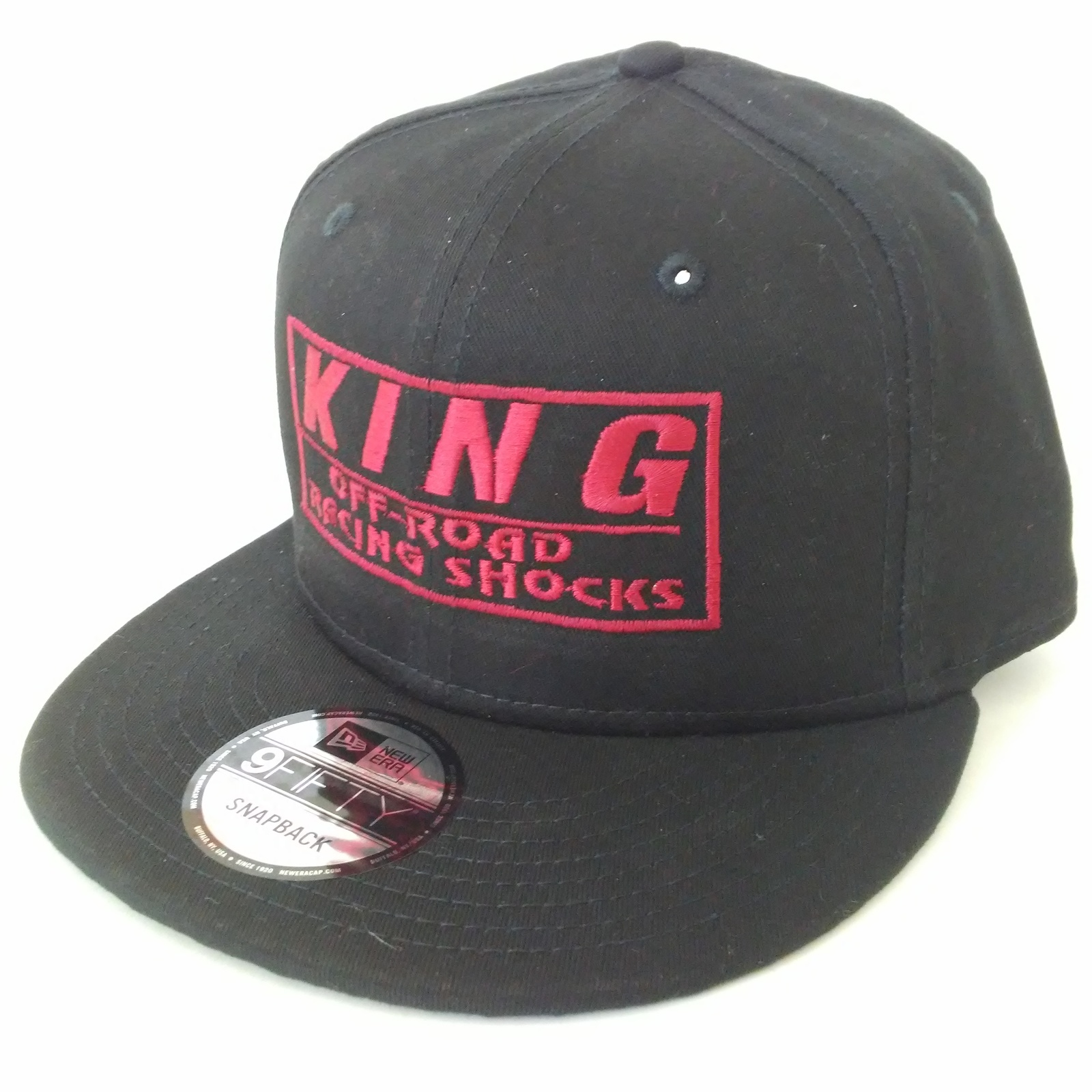 NEW ERA 9FIFTY KING OFF ROAD RACING SHOCKS HAT CAP SNAPBACK RED EMBROIDERED HA