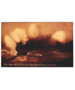 Vintage Postcard High Waves at  Vue de I' eau Santa Cruz California K3 - $13.61