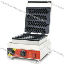 Commercial Nonstick Electric Wheat Stalk Lolly Waffle Maker Machine Iron... - $326.70