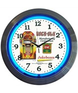 "Rock-Ola Jukebox Neon Clock 15""x15"" - $69.00"