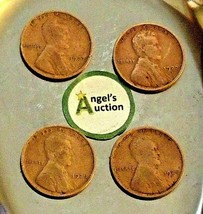 Lincoln Wheat Penny 1927 P, 1927 D  and 1928 P, 1928 D AA20-CNP2176 Antique