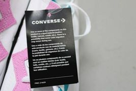 NIB NEW Women sz 8.5 Converse Shoe Sneaker White Teal Peony Box CTAS OX image 7