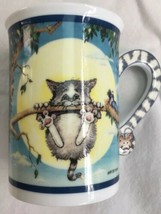 The Danbury Mint Comical Cat Hang In There Gary Peterson Porcelain Mug - $26.05