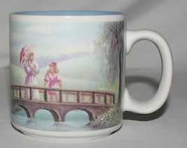 Mug Two Ladies on a Bridge Impressionist Russ Berrie 12912 - $9.85