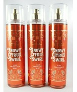 (3) Bath & Body Works BBW Snowy Citrus Swirl Orange Fine Fragrance Mist ... - $31.32