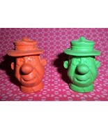Vintage Yogi Bear Ranger Smith Pencil Topper Erasers Marked HB 1976 FUN - $6.00