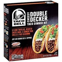 TACO BELL DINNER KIT CHEESY DOUBLE DECKER 13 OZ - $11.13