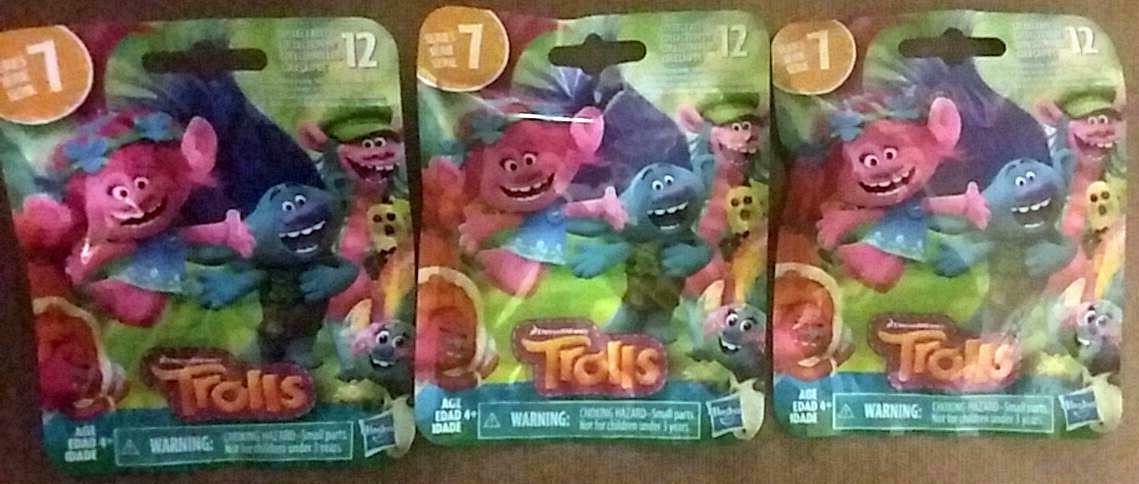 Trolls Dreamworks Series 7 Set of 3 Blind Surprise Bags - $11.87