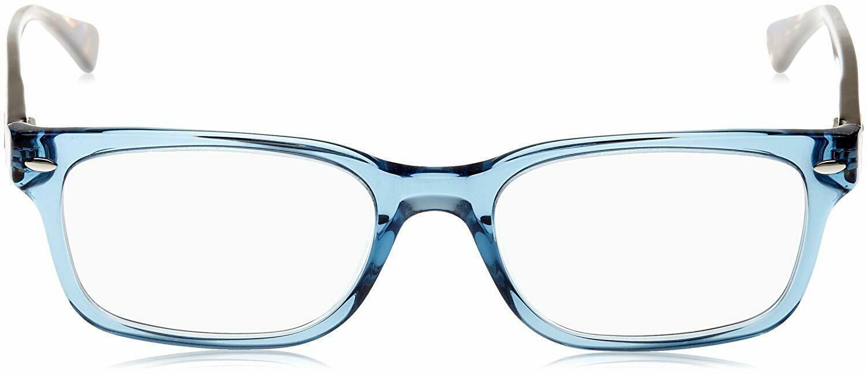 Unisex Ray Ban RX5286 8024 Rectangle Eyeglass Frame - Blue, 51mm image 5