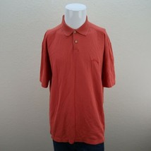 Tommy Bahama Red Short Sleeve Buttons Up Cotton Casual Polo Shirt Mens Large - $22.95