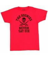 Goonies : Never Say Die T-Shirt  Jolly Roger Crossbones Red Loot Crate S... - $12.30