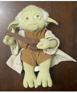 Star Wars Lucas 12 Inch Plush Stuffed Yoda Cane Robe Belt Pose-able Not ... - $9.90