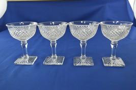 4 Westmoreland Glass English Hobnail High Sherbet #555/2 - $19.80