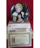 Christmas Stamp Plate 1980,Epiphany Stained Glass Window of Mother &  child - $9.99
