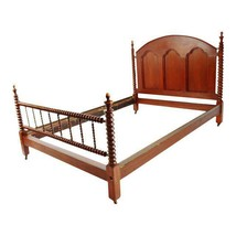 Antique Mahogany Jenny Lind Style Full Size Spool Spindle Bed - $1,295.00