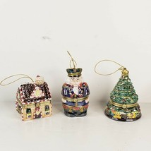 3 Mr Christmas Animated Music Box Ornaments Ginger House Tree Nutcracker Video - $30.00