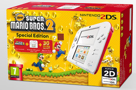 NEW Nintendo 2DS Scarlet Red Handheld System Console with New Super Mari... - $109.95