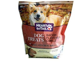 Heart to Tail Dog Treats Bacon Flavored Curlz 25 oz