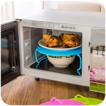 Microwave Oven Shelf Multifunctional Double Insulated 2 Layer Heating Tr... - $5.99