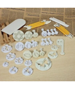 Free shipping 12 Sets Fondant Cake Decorating Tools DIY Cookie Sugar Cra... - $19.99