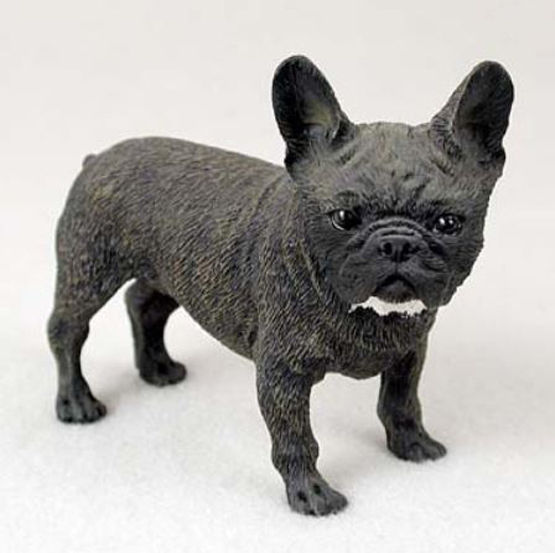 FRENCH BULLDOG FRENCHIE DOG Figurine Statue Hand Painted Resin Gift Pet Brindle